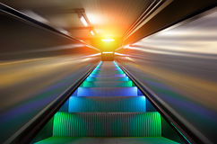 The escalator of subway station Stock Photo