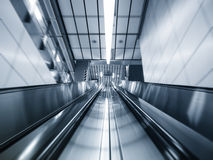 Escalator in subway station Transportation Background Royalty Free Stock Photography