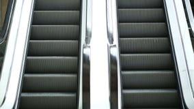 Escalator On a Supermarket stock footage