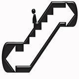 Escalator symbol Stock Image