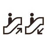 Escalator symbols Royalty Free Stock Images