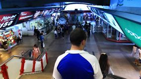 Escalator in Thailand, Bangkok, 1 August 2014.  stock video footage