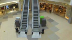 Escalator time lapse stock video