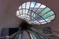 Escalator to a bicycle parking in Eindhoven, Netherlands Stock Photography