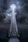 Escalator to the cross Stock Photography