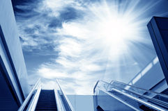 Escalator to the sky Stock Photos