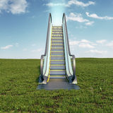 Escalator to the sky Royalty Free Stock Image