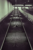 Escalator. To subway train station Royalty Free Stock Photography