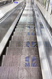 Escalator to the subway Stock Photo