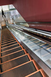 Escalator to underground shopping mall Royalty Free Stock Images