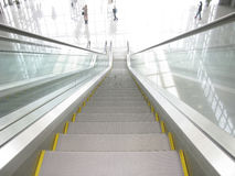 Escalator from top to bottom Royalty Free Stock Image