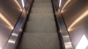 Escalator from top view stock video