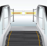 Escalator and tourniquet Stock Photos