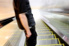 Escalator Toward the Light Stock Photos