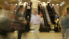 Escalator traffic in nyc station stock footage