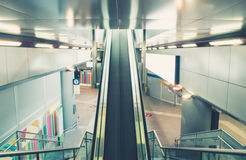 Escalator at the train station. Escalator at a train station Stock Images