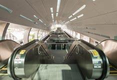 Escalator train station. Escalator in monorail train station Royalty Free Stock Photography