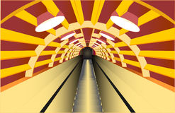 Escalator in the tube Royalty Free Stock Photos