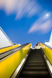Escalator under the night sky Royalty Free Stock Photo