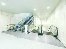 Escalator in underground Royalty Free Stock Photography
