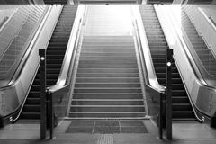 Escalator from the underground Stock Image