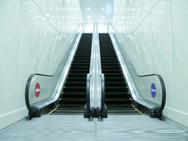 Escalator in underground passage Royalty Free Stock Images