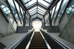 Escalator in underground passage Stock Photos