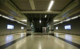 Escalator at underground station, delhi Stock Photos