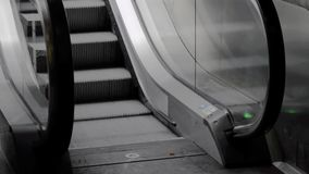 Escalator in the underpass stock footage