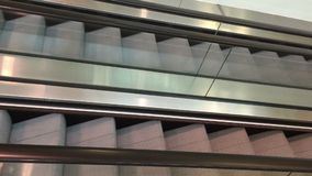 Escalator. An up and down escalator video stock footage