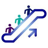 Escalator upside. Upward above, career Royalty Free Stock Photo
