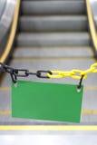 Escalator vide de panneau d'affichage Photo libre de droits