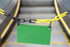 Escalator vide de panneau d'affichage Images libres de droits