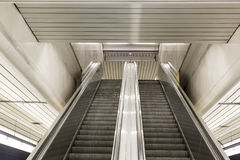 Escalator. View of the escalator or mobile stairs Stock Images