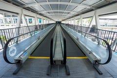 Escalator walk way moving go Stock Images