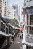 Escalator and walkway system in Hong Kong Royalty Free Stock Images