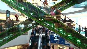 Escalators à l'heure de pointe Photo libre de droits