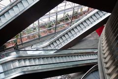 Escalators Images libres de droits