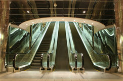 Escalators photographie stock libre de droits