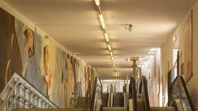 escalators Imágenes de archivo libres de regalías