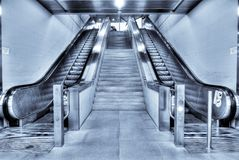 escalators Photographie stock libre de droits