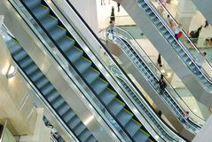 Escalators au mail Images libres de droits