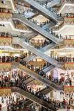 Escalators, busy mall Royalty Free Stock Photo