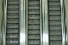 Escalators down Stock Images