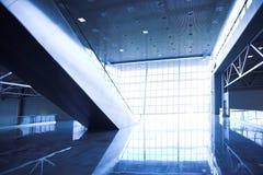 Escalators in exhibition royalty free stock photos
