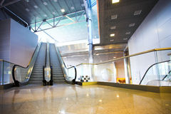 Escalators in exhibition Royalty Free Stock Image