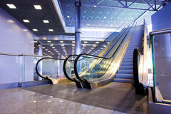 Escalators in exhibition Royalty Free Stock Photography
