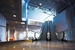 Escalators in exhibition Royalty Free Stock Photography
