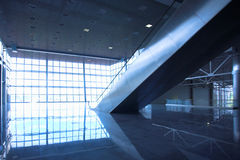 Escalators in exhibition Stock Photography