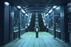 Escalators hall Stock Photography